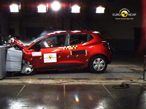 Euro NCAP krocktest Renault Clio: front