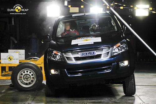 Euro NCAP krocktest Isuzu D-Max: sida