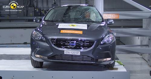 Euro NCAP krocktest Volvo V40: sida