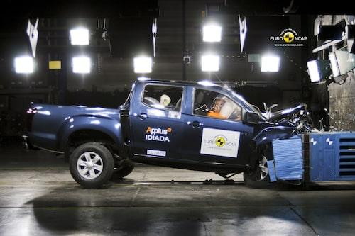Euro NCAP krocktest Isuzu D-Max: front