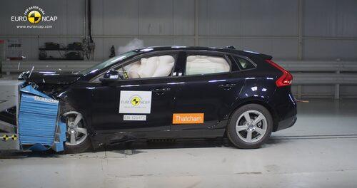 Euro NCAP krocktest Volvo V40: front