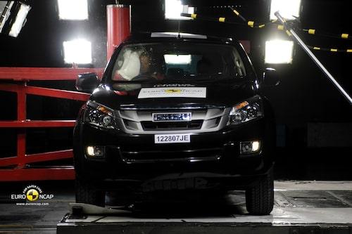 Euro NCAP krocktest Isuzu D-Max: stolpe