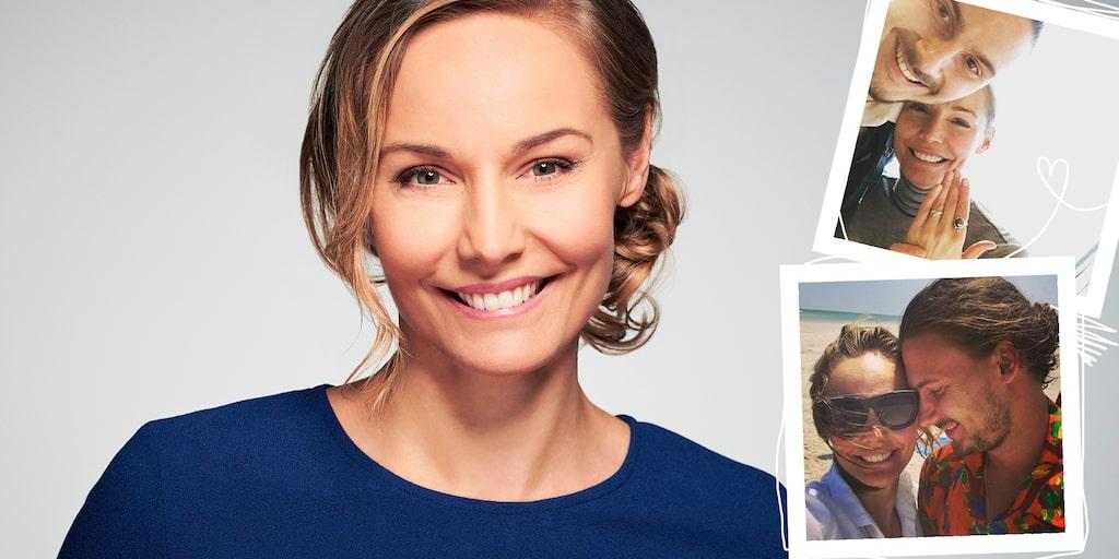 Carina Berg är ihop med fotbollsspelaren Erik Johansson och mamma till Holger.