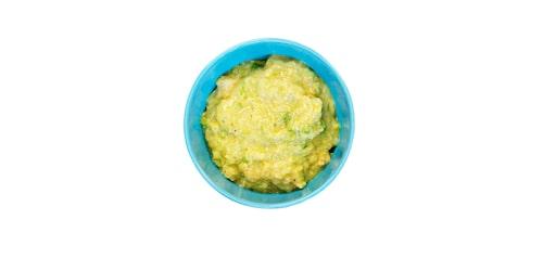 Kyckling med curry är bra mat för en bebis.