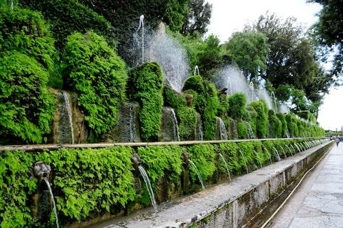Vattenspel i Villa d'Este