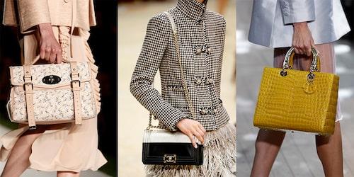 Märkesväskor direkt från catwalken. Mulberry, Chanel, Christian Dior.