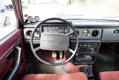 Den nya instrumentbrädan med bred mittkonsol kom först på 1973 års modell.