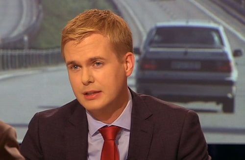 Gustav Fridolin i SVT i går.