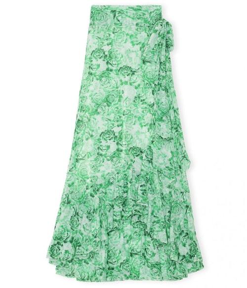 Grön volangkjol från Ganni. Klicka på bilden och kom direkt till kjolen.