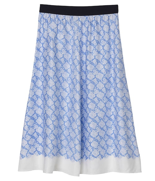 Midikjol från By Malene Birger i somrigt mönster. Klicka på bilden och kom direkt till kjolen.