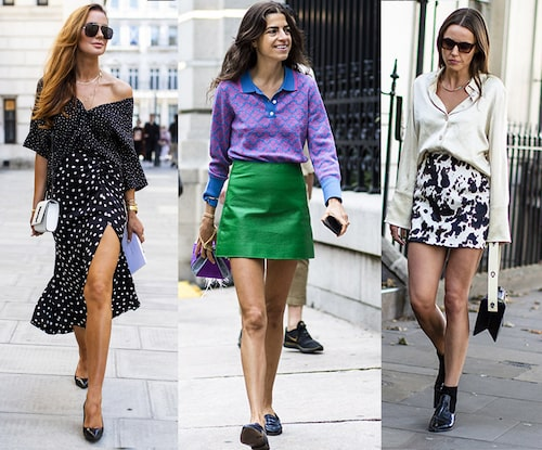 Visa upp dina brunbrända ben i en kortare kjol!