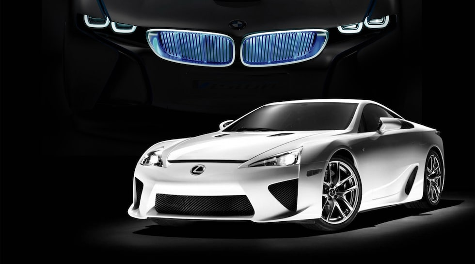 Lexus LFA och BMW i8