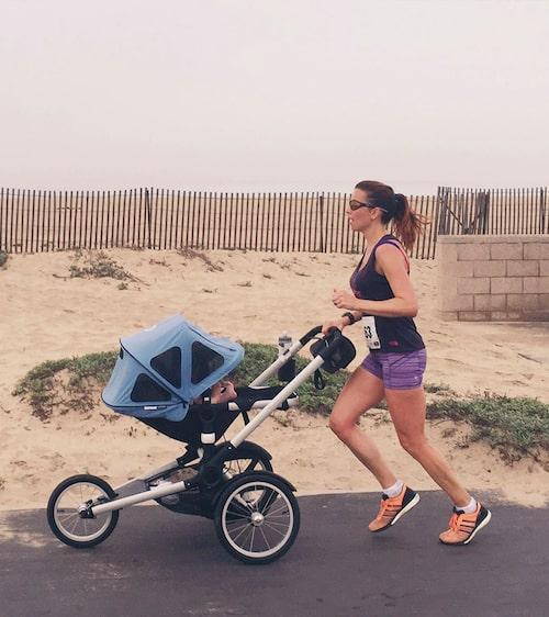 Ta en springtur med en löpvagn.