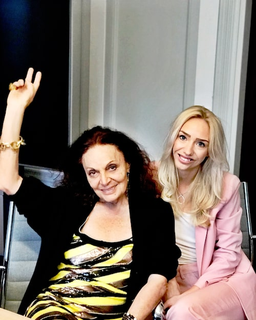 Damernas Världs Cassandra Lindblom träffade Diane von Furstenberg.