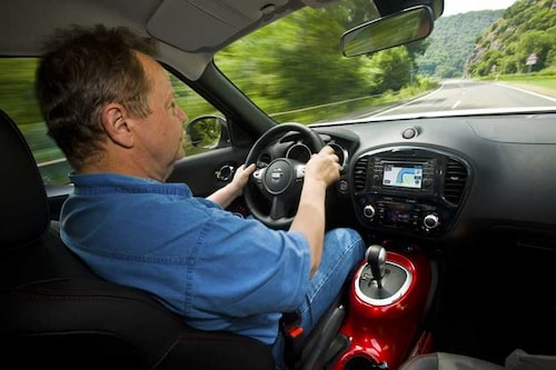 PeO Kjellström fann sig väl tillrätta i Nissan Juke.