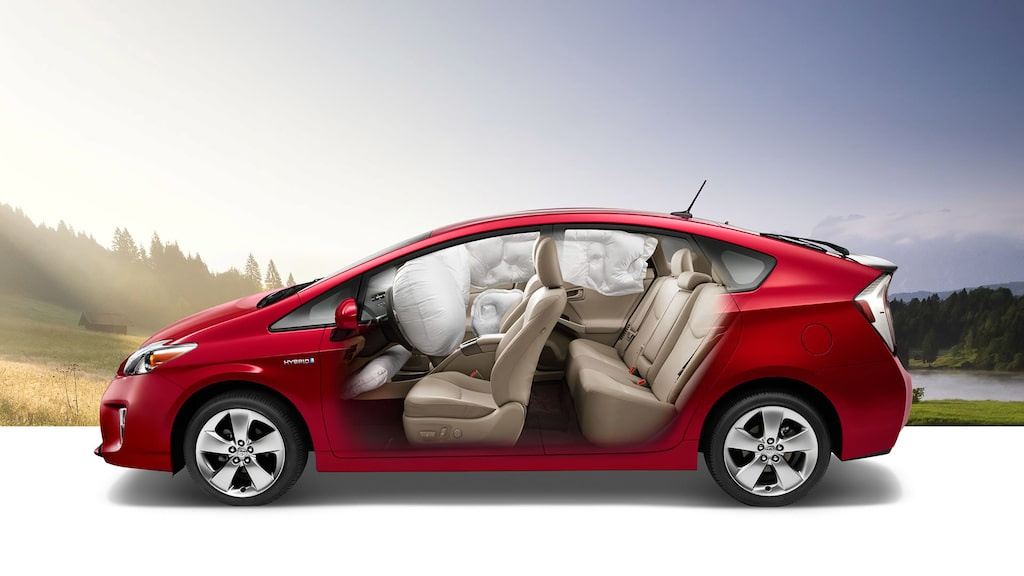 Krockkuddarna i Toyota Prius (ej nya generationen).