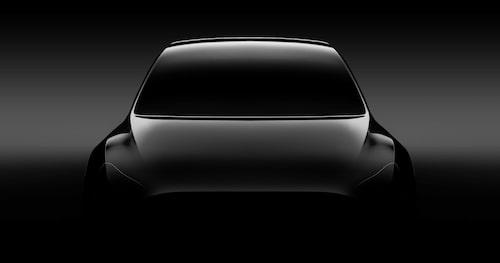 Den teaserbild som Tesla tidigare har skickat ut.