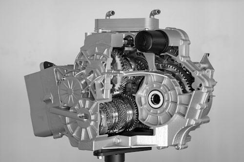 Här den tioväxlade DSG-dubbelkopplingslåda som Volkswagen nyligen visat för världen. Kommer till nya Golf.