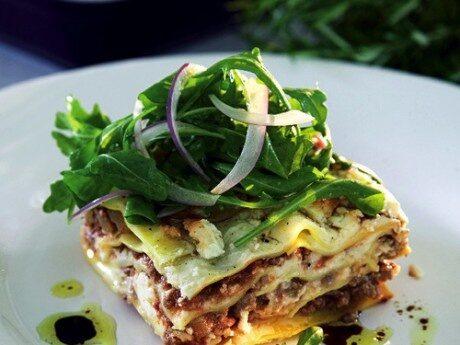 Lasagne med krämig fetaost och rosmarin