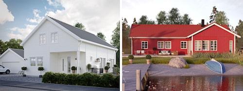 Hos SmålandsVillan hittar du hus i olika stilar och storlekar. Vitt och modernt som Villa Hjälmseryd eller rött och lantligt á la Villa Vetlanda – vilket hus drömmer du om?