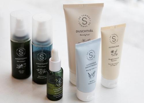 Produkter för ansikte och kropp från Dr Sannas.