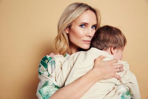 Moa Gammel med sitt barn, sonen Nateo, 4 år.