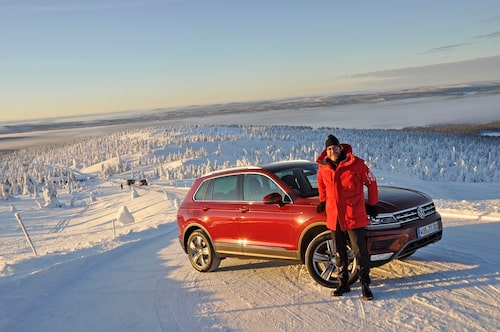 """""""Genomgående hög lägstanivå"""" utmärker nya Tiguan anser Hans Hedberg efter sin provkörning i Lappland."""
