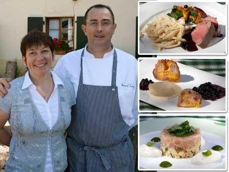 <p>STJ&Auml;RNSTATUS. Martine och Bernard Leray framf&ouml;r sin restaurang, La Nouvelle Auberge, som f&ouml;r n&aring;gra m&aring;nader sedan fick en eftertraktad stj&auml;rna i Guide Michelin.</p>