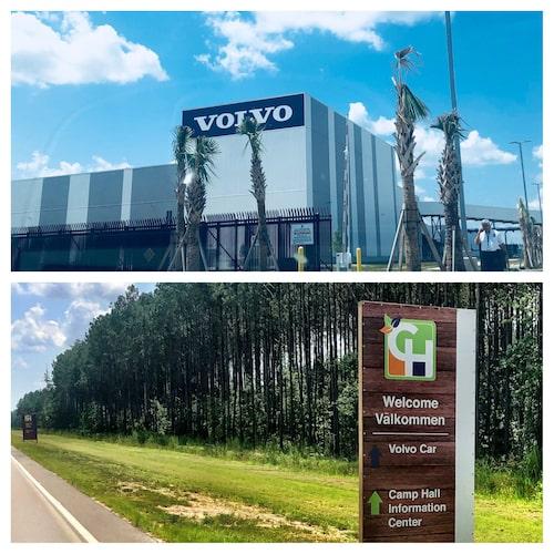 Volvos nya fabrik i Charleston, South Carolina, USA.