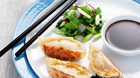 Dumplings med rädissallad