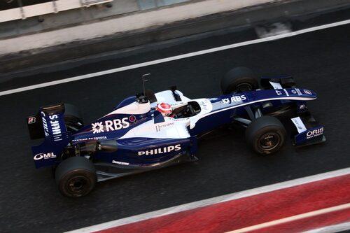 Williams var snabba på banan. Med Kazuki Nakajima bakom ratten.