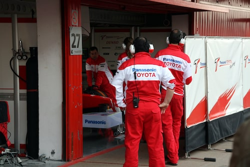 Toyota förbereder sin testdag...