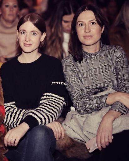 Emilia Klang, moderedaktör på Damernas Värld och Lisa Pettersson på Styleins visning.
