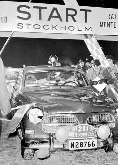 Volvo deltog första gången i Monte Carlo-rallyt 1949 med PV 444, men 10 år senare körde Pelle Nyström en Volvo Amazon.