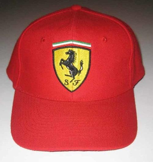 Keps, Ferrari. Gåva från stallet under Belgiens Grand Prix 1998.