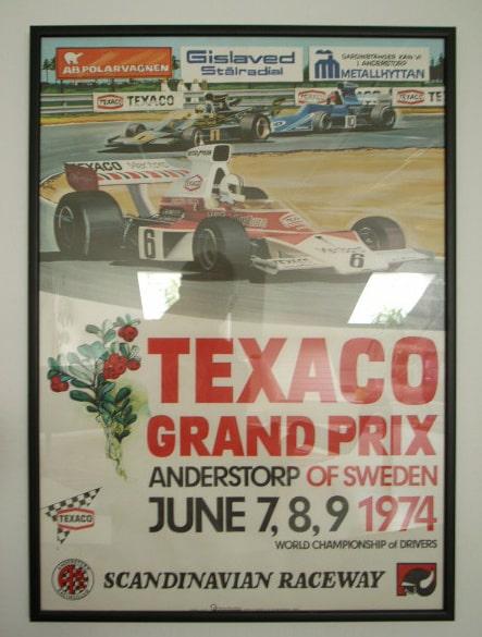 Affisch, Sveriges Grand Prix 1974.
