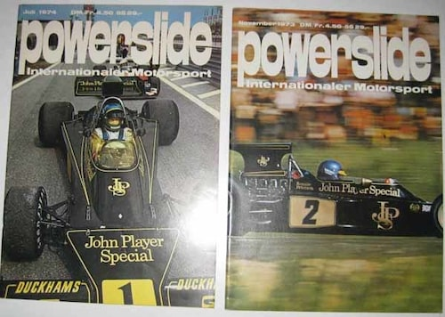 Tidningar, Powerslide med Ronnie Peterson.