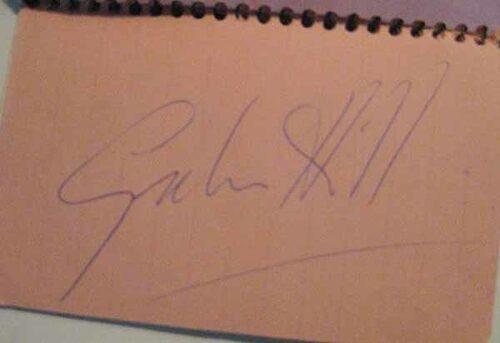 Autograf Graham Hill.