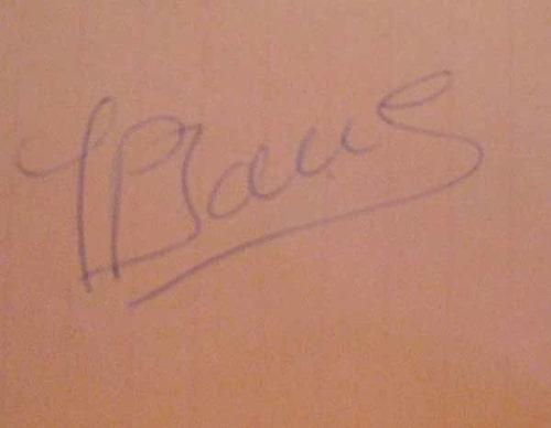 Autograf Jean-Pierre Jarier.