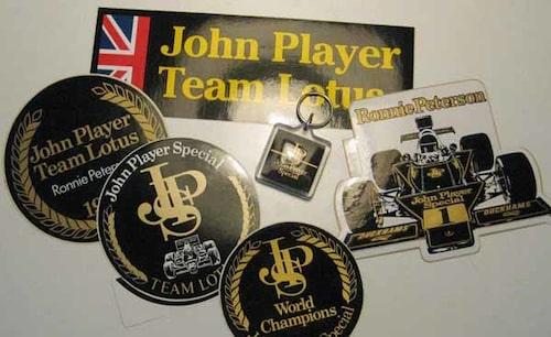 Klistermärken Ronnie/Lotus/John Player Special 1970-tal.