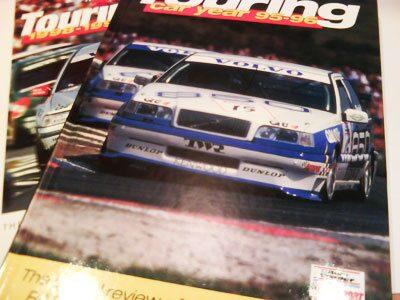 Årsböcker BTCC, 1995-1996, 1998-1999. Rickard Rydell körde alla dessa år.