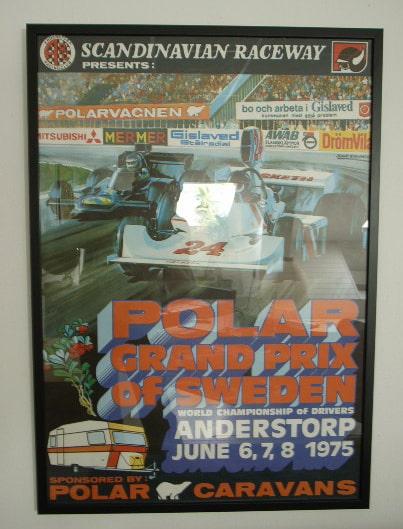 Affisch, Sveriges Grand Prix 1975.