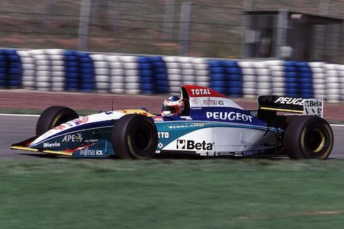 Sidepod från en Jordan-Peugeot, 1995.