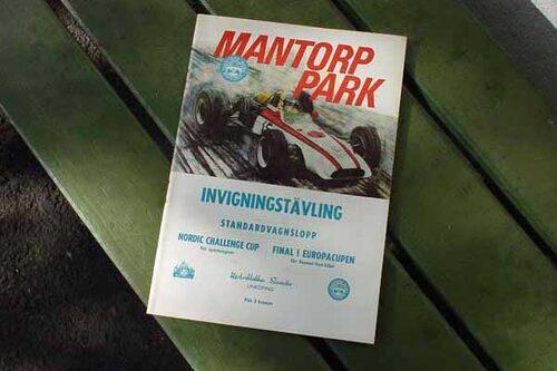 Program invigningen av Mantorp Park.