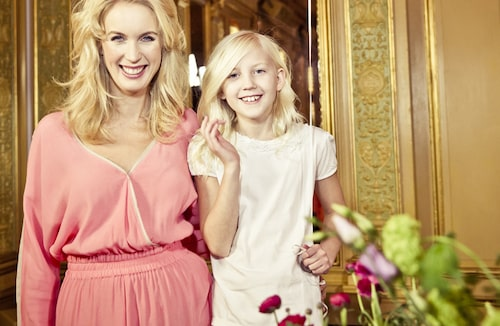 Jenny Strömstedt med dottern Vanna, 10.