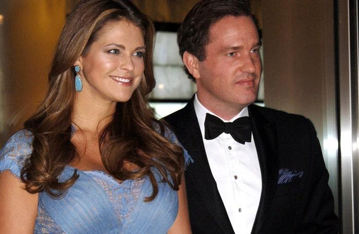 Prinsessan Madeleine och maken Chris.