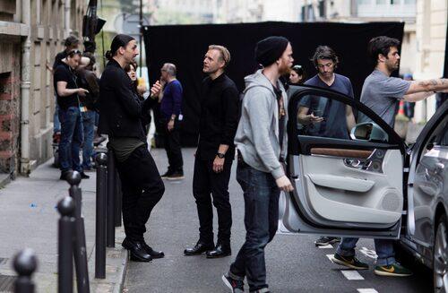 Zlatan Ibrahimovic under reklaminspelning med Volvo.