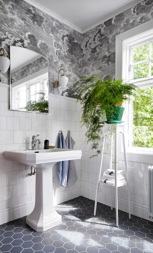 Ur Tapet i badrum är heta trenden – se minibadrummet som essar stilen!, Sköna hem nr 3, 2018.