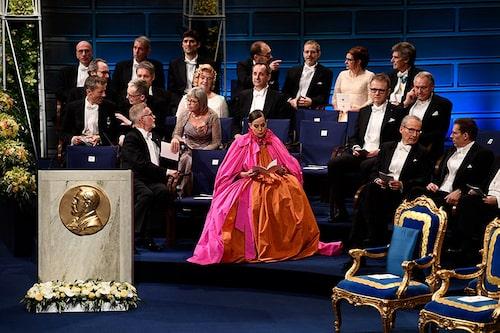 Pär Engsheden var med och skapade Sara Danius ikoniska Nobel-klänning 2018.