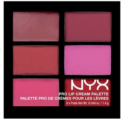 Marias favorit: Pro lip cream palette i nyans The plums, 139 kr, Nyx Cosmetics.
